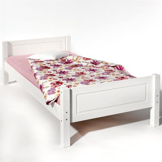 lit simple 90 x 190 cm pin massif lasur blanc ebay. Black Bedroom Furniture Sets. Home Design Ideas
