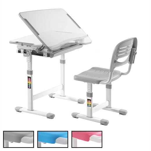 Détails sur Ensemble bureau et chaise enfant écolier pupitre inclinable hauteur réglable