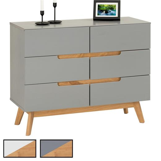 6 tiroirs-table d/'appoint console table sideboard Bois commode retro design