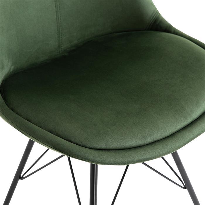 Lot de 2 chaises EVEREST, en velours vert