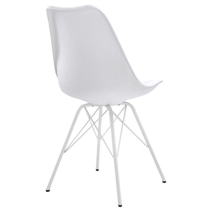 Lot de 2 chaises VALLEY, en synthétique blanc