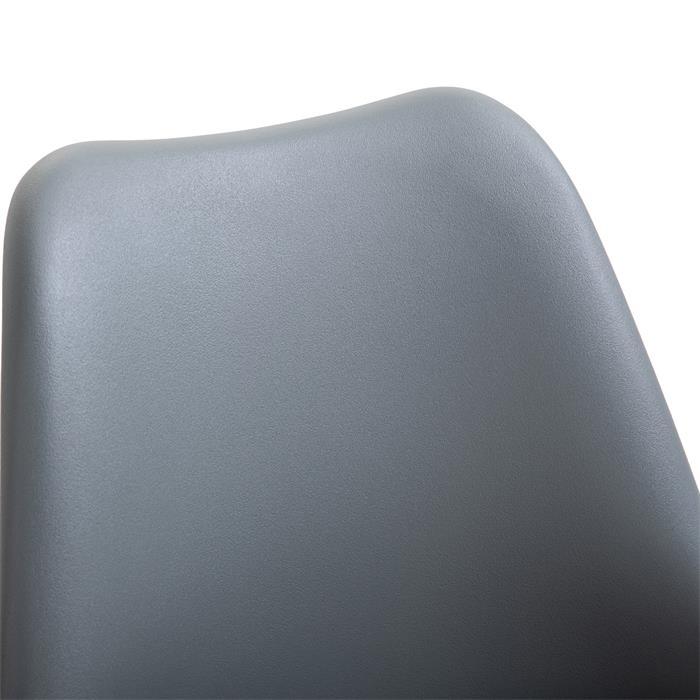 Lot de 2 chaises VALLEY, en synthétique gris