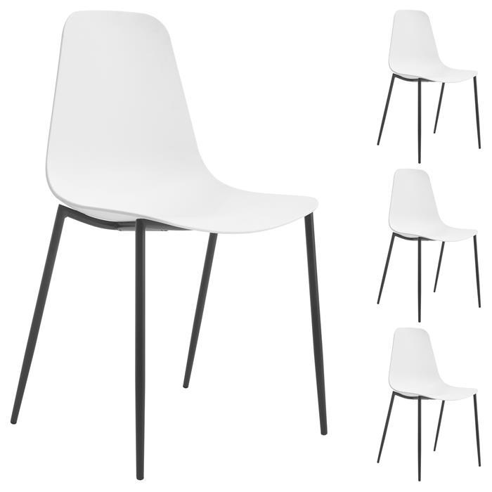 Lot de 4 chaises FRIDO, en plastique