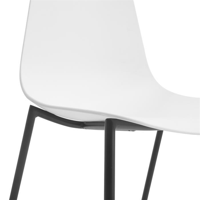 Lot de 4 chaises FRIDO, en plastique blanc