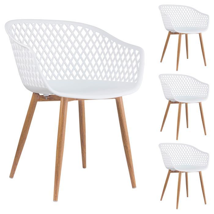Lot de 4 chaises MADEIRA, en plastique