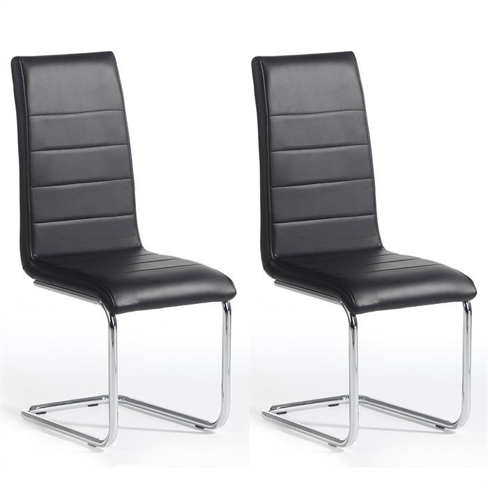 Lot de 2 chaises LENI, noir