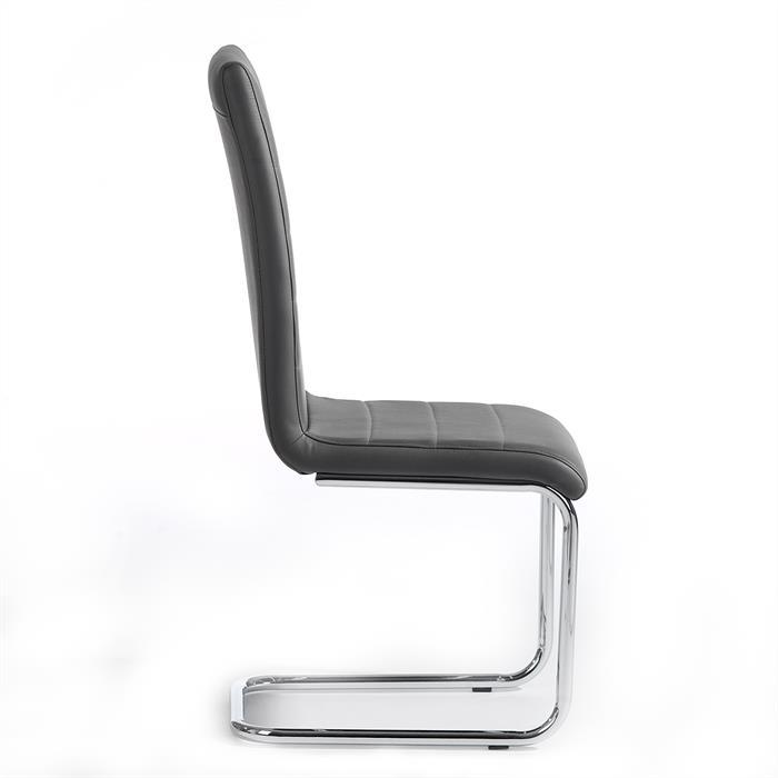 Lot de 2 chaises LENI, gris