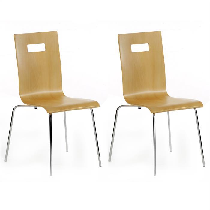 Lot de 4 chaises IVANCA, laqué beige