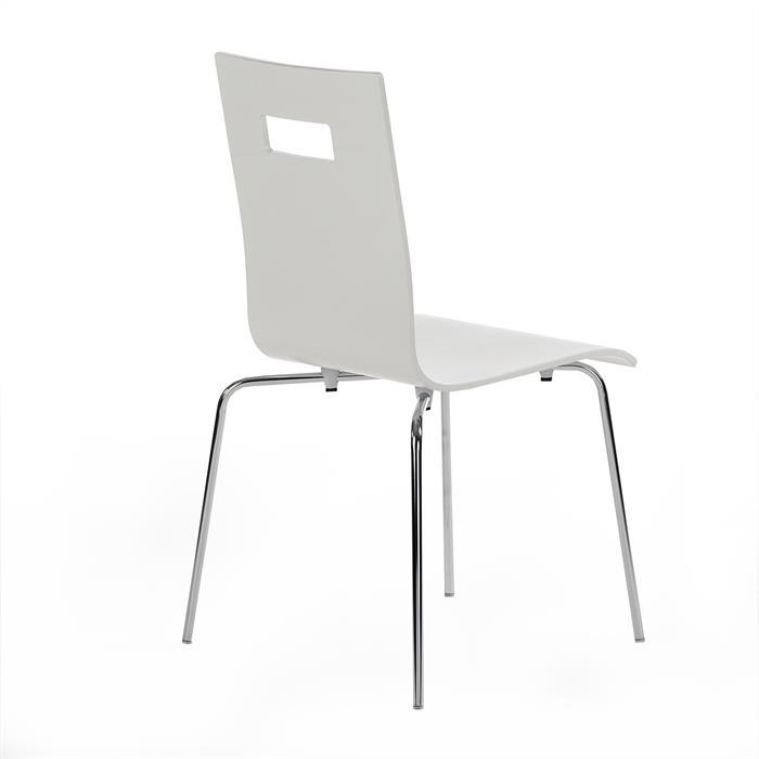 Lot de 4 chaises IVANCA, laqué blanc