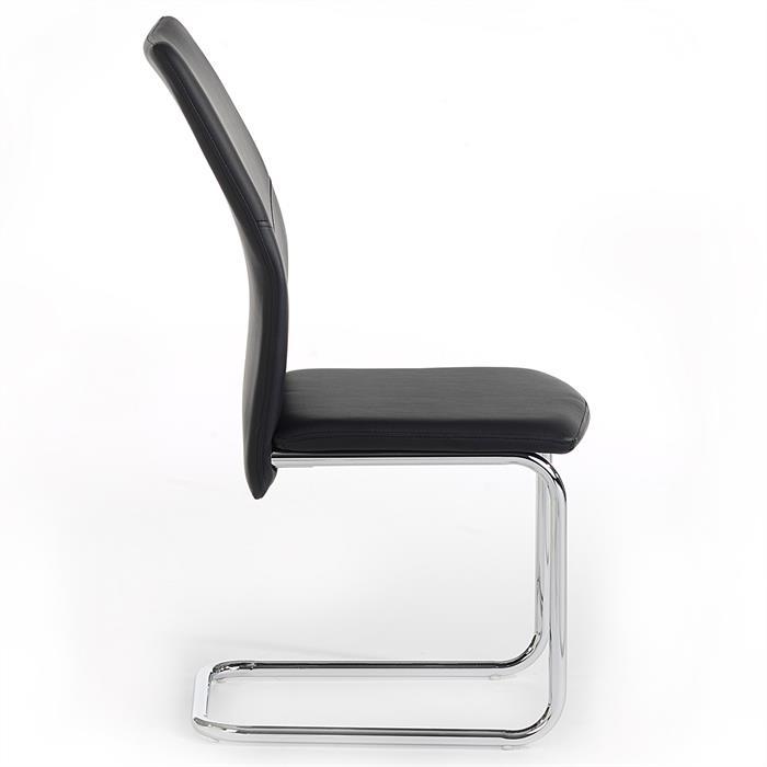 Lot de 4 chaises LEONA, noir