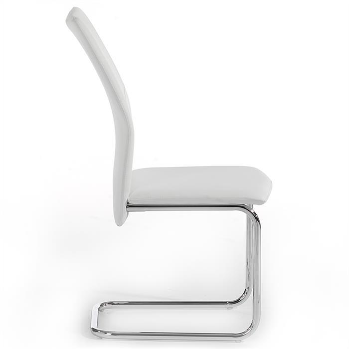 Lot de 4 chaises LEONA, blanc
