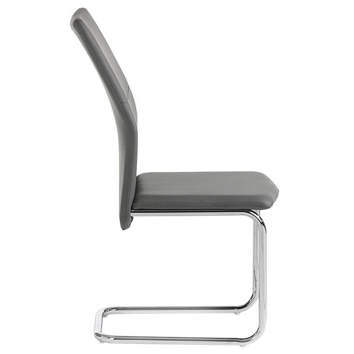 Lot de 4 chaises LEONA, en synthétique gris