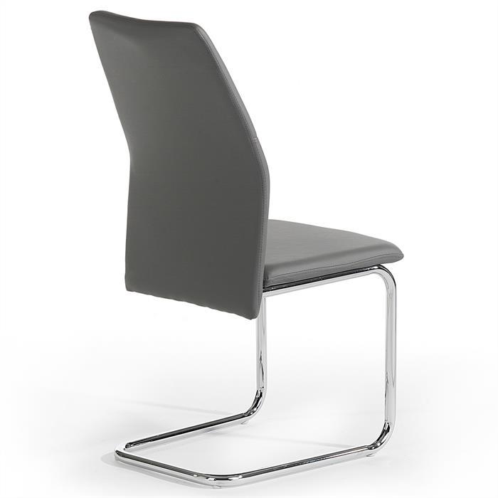 Lot de 4 chaises LEONA, gris