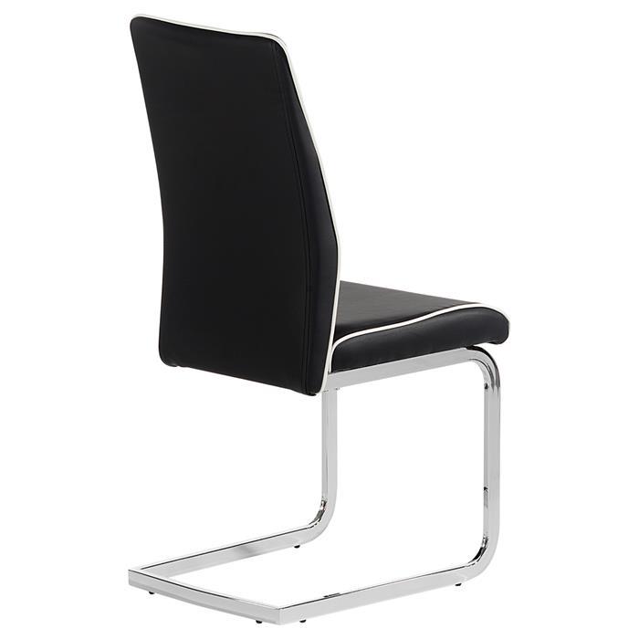 Lot de 4 chaises JIMENA, noir