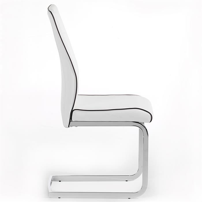 Lot de 4 chaises JIMENA, blanc