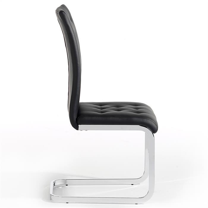 Lot de 4 chaises CHLOE, en synthétique noir