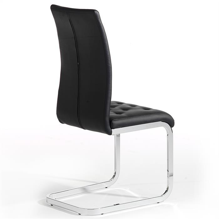 Lot de 4 chaises CHLOE, noir