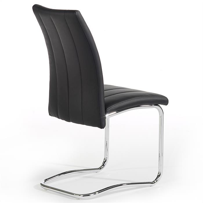 Lot de 4 chaises ALESSIA, noir