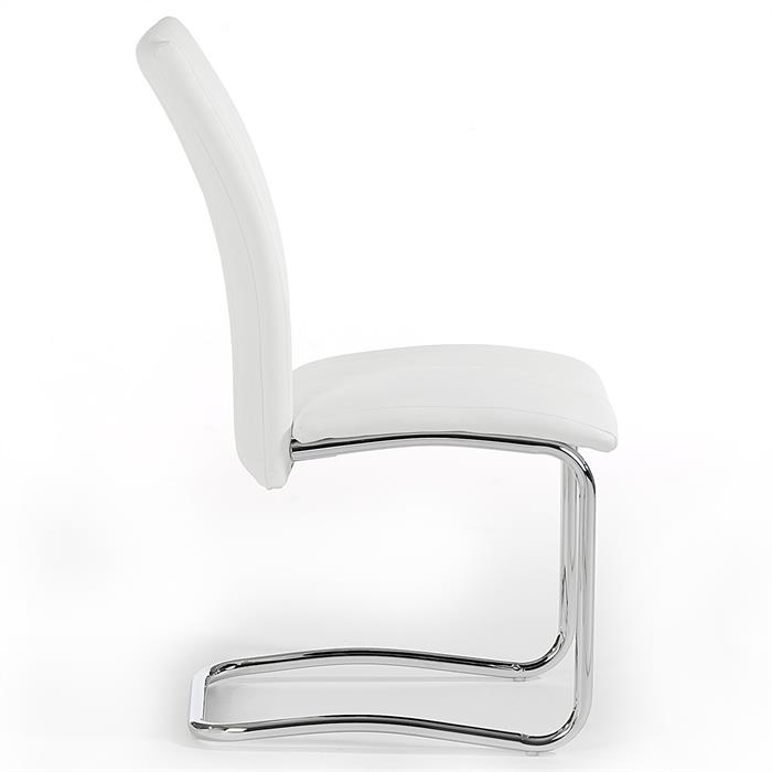 Lot de 4 chaises ALESSIA, blanc