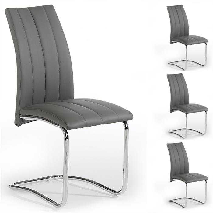 Lot de 4 chaises ALESSIA, gris