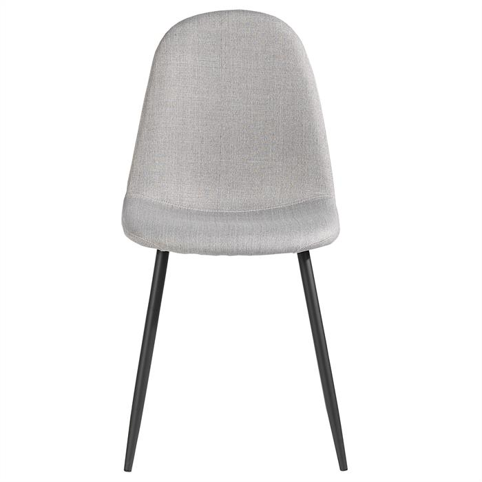 Lot de 4 chaises BRIT, en tissu gris