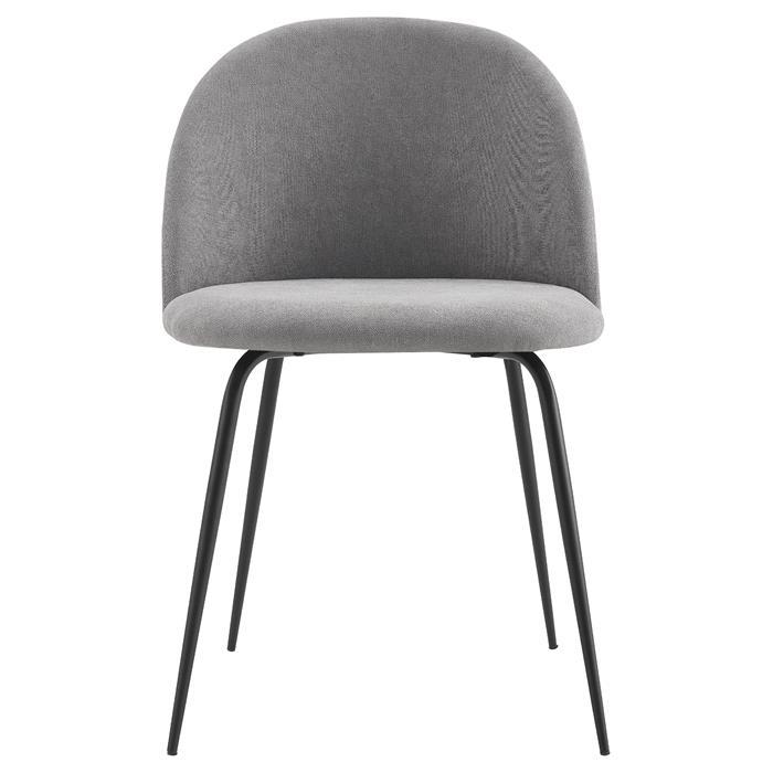 Lot de 2 chaises ARRIBA en tissu gris
