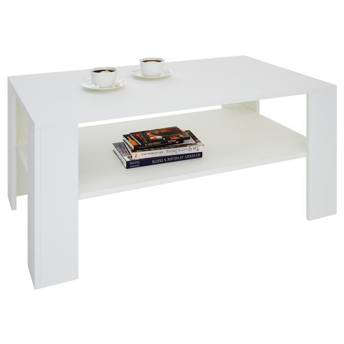 Table basse LORIENT, en mélaminé blanc mat