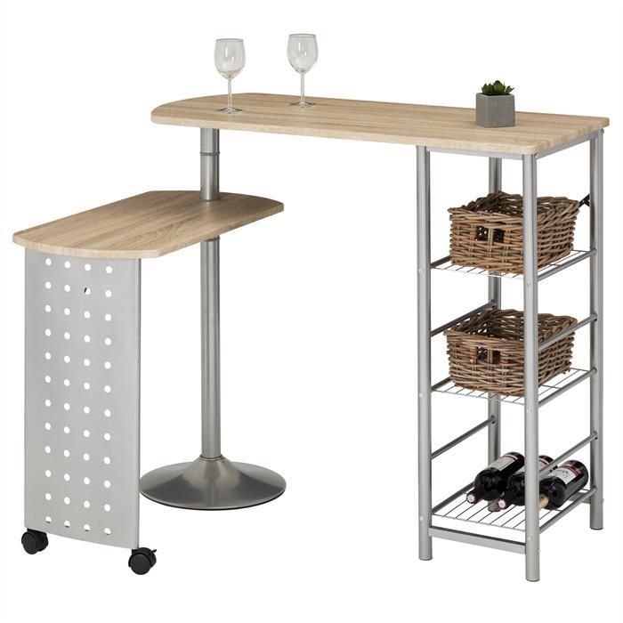 Table haute de bar JOSUA, décor chêne sonoma