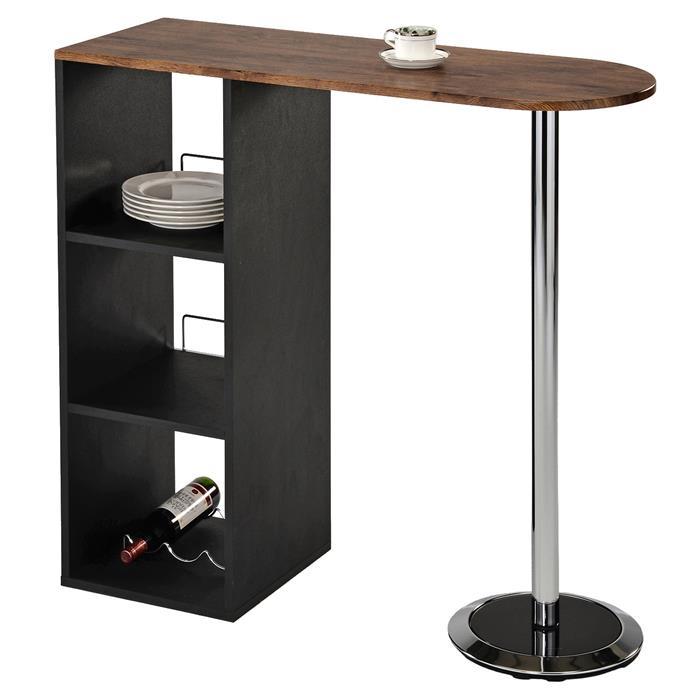 Table haute de bar DETROIT, décor chêne sauvage