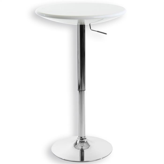 Table haute de bar DOMINIK, en plastique blanc