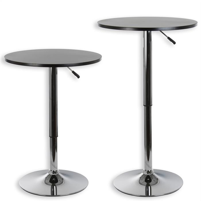 Table haute de bar VISTA, plateau en MDF noir mat