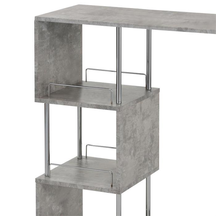 Table haute de bar VIGANDO, décor béton