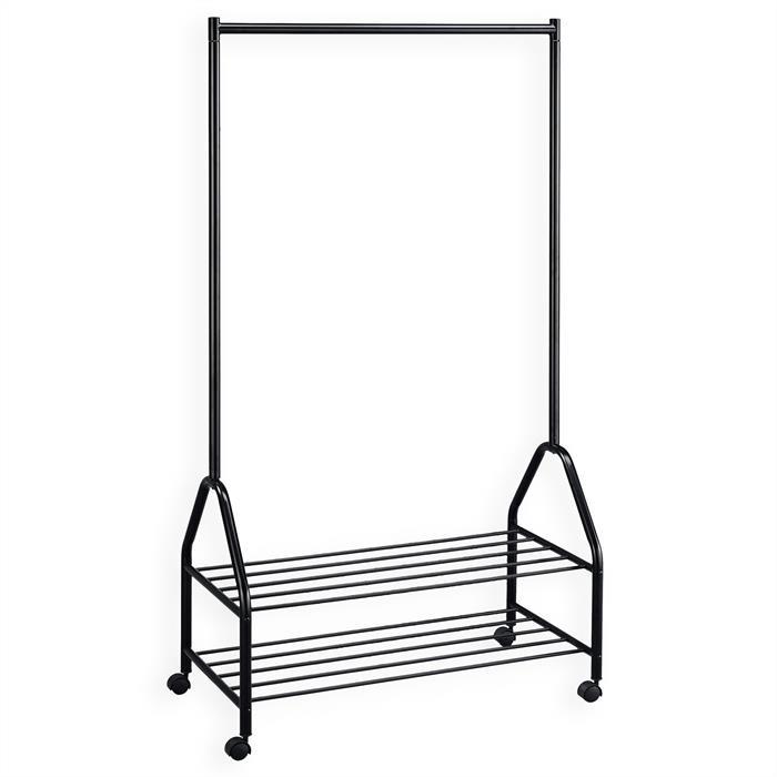 portant sur roulettes ebony mobil meubles. Black Bedroom Furniture Sets. Home Design Ideas