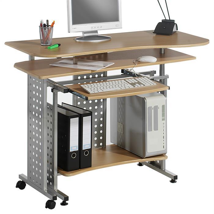 Bureau informatique ALPHA, couleur hêtre