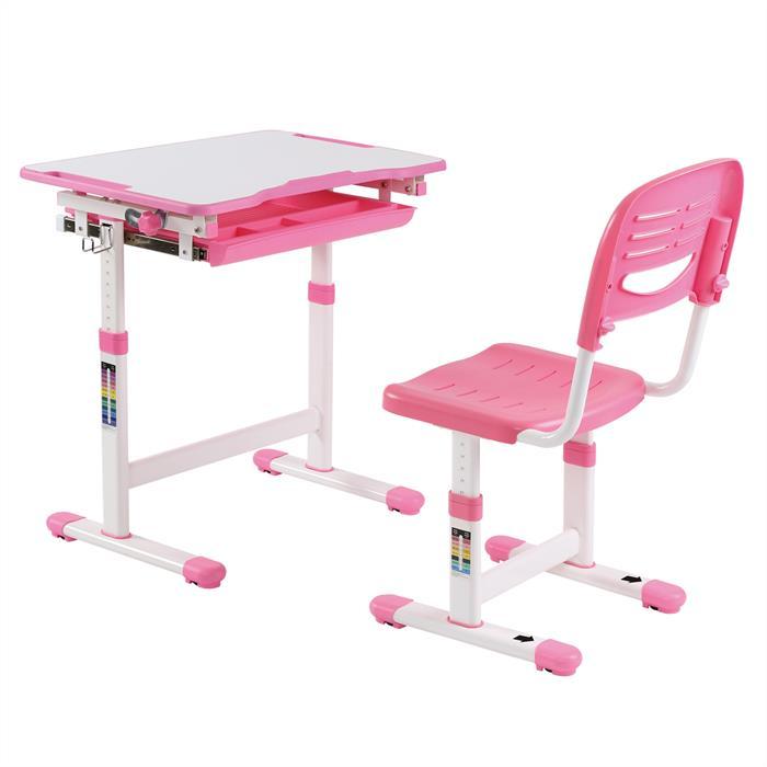 Ensemble bureau et chaise pour enfant ALUMNO, rose