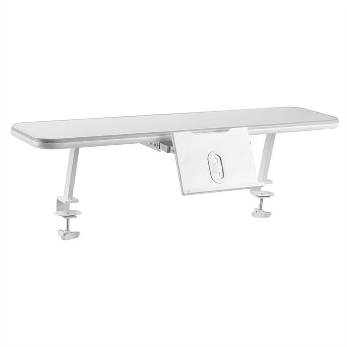 Etagère de bureau à fixer LIBRO avec support pour livre ou tablette, blanc/gris