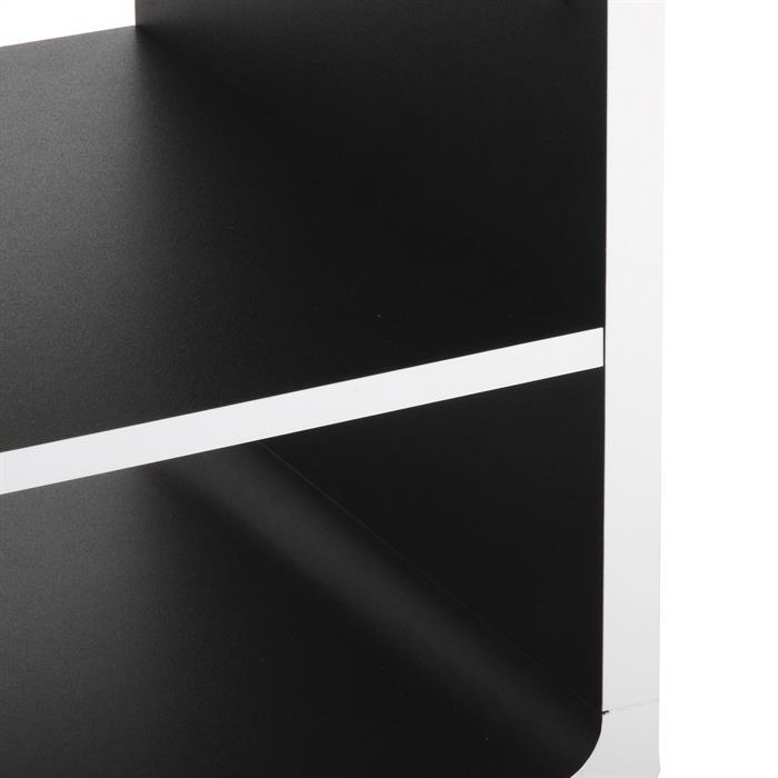 Meuble TV MIAMI, blanc/noir