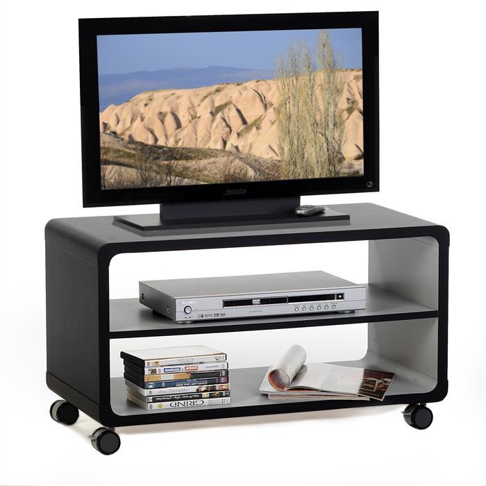 meuble tv miami noir gris mobil meubles. Black Bedroom Furniture Sets. Home Design Ideas
