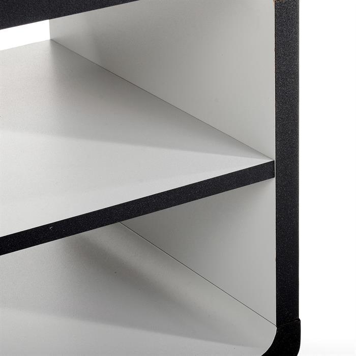 Meuble TV MIAMI, noir/gris