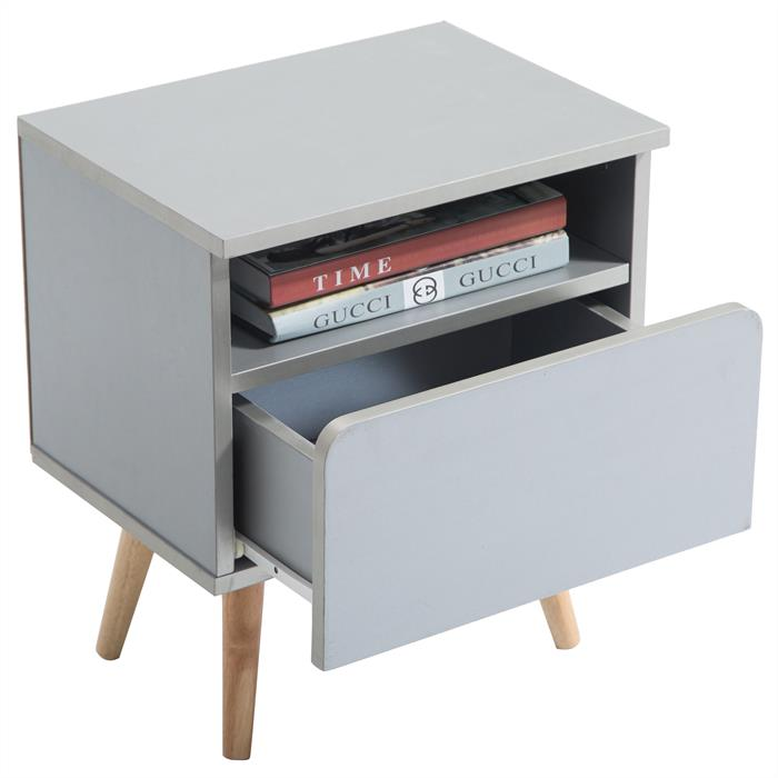 SECOND CHOIX - Table de chevet GIORGIA, gris mat