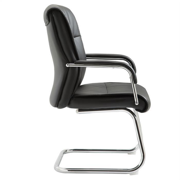 Chaise visiteur CEDRIC noir