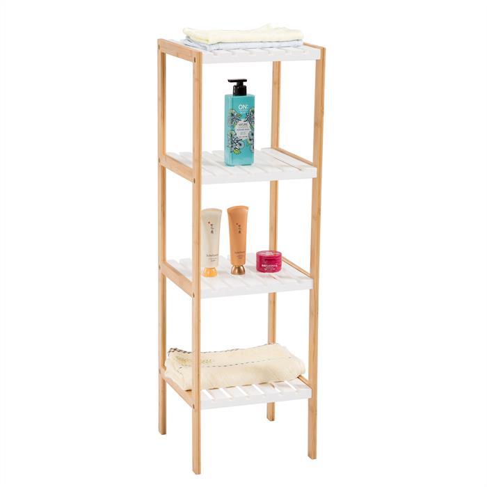 etag re de salle de bain sur pied blaine 4 tablettes en. Black Bedroom Furniture Sets. Home Design Ideas