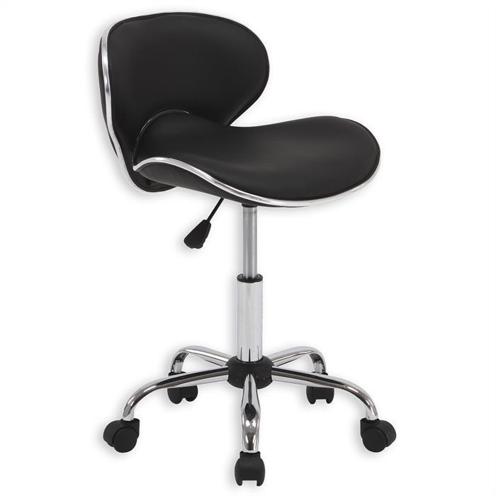 Chaise de bureau sur roulettes GUNNAR, noir