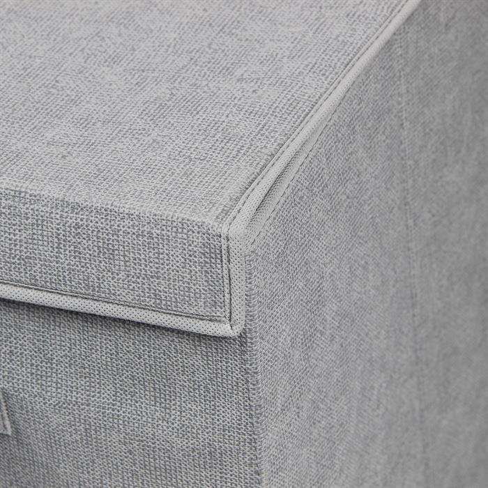 Panier à linge TIAGO, tissu Vlies gris