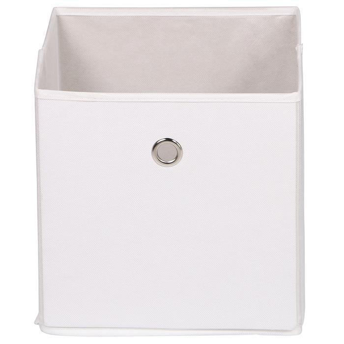 Lot de 2 boîtes de rangement ELA, en tissu blanc