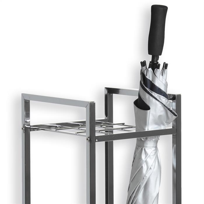 Porte-parapluie NELIA, chromé et plastique