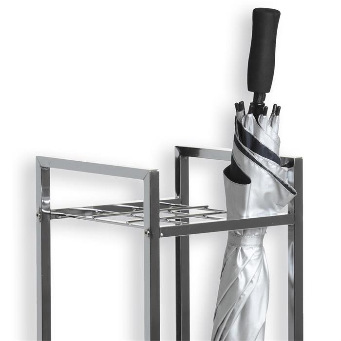 Porte-parapluies NELIA, en métal chromé