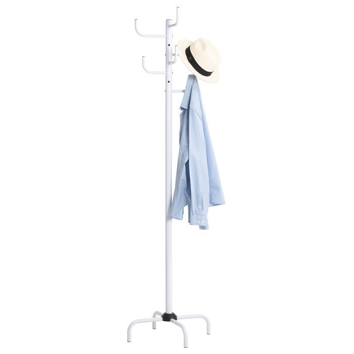 Porte-manteaux KAKTUS 8 portants, en métal laqué blanc