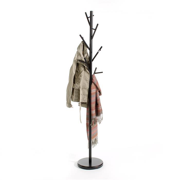 Porte-manteaux ZENO, en métal laqué noir