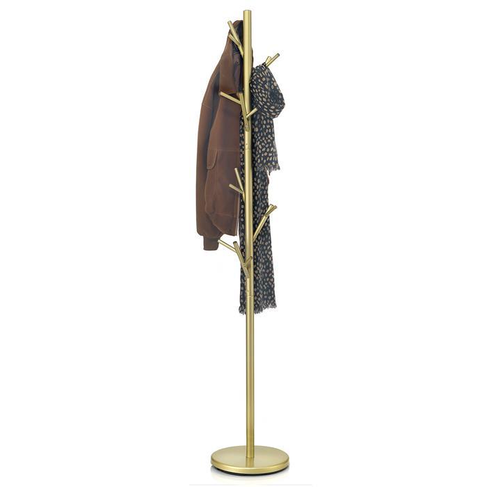 Porte-manteaux ZENO, en métal laqué doré